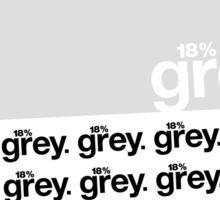 18% Grey Test Tee V2 Sticker