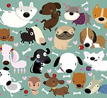 Dog pattern by mjdaluz