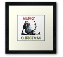 A very FROZEN christmas Framed Print