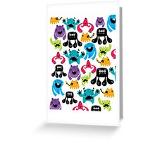Monster Pattern Greeting Card