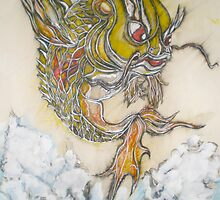 Original Drawing of Supa angry Koi by Joseph Tien