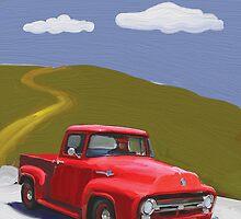 Red Truck by Andrew Faulkner
