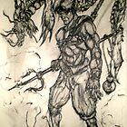 Warrior of Sea and Dragon Eel by Joseph Tien