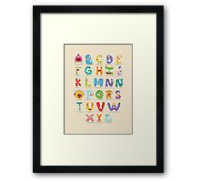 Monster abc Framed Print