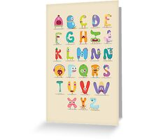 Monster abc Greeting Card