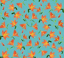 Orange Flowers * Pattern by Ana CB Studio