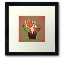 The fox in the pot Framed Print