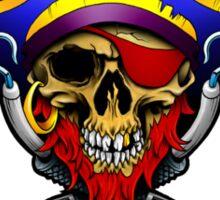 The Surly Skull Tattoo Studio Logo White Sticker