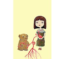 Grendelgirl and bear hold heartvines  Photographic Print