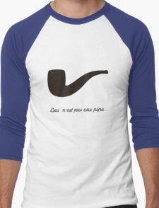 Ceci n'est pas une pipe. Men's Baseball ¾ T-Shirt