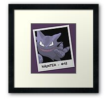 Haunter Selfie Framed Print