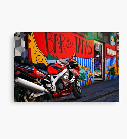 Graffiti around Melbourne Canvas Print