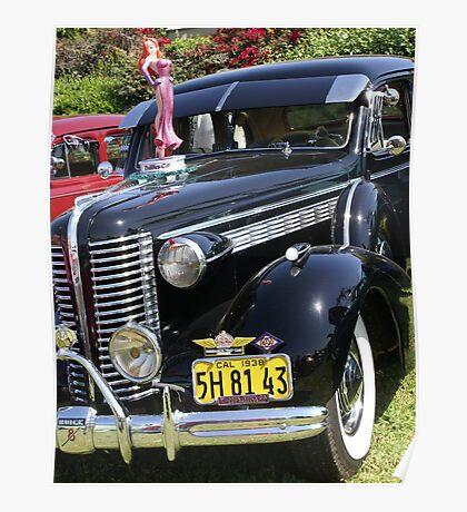 1938 Buick; Vietnam Veterans Day Car Show, Cal High, Whittier, CA USA Poster