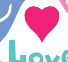 Love Birds - light colors Sticker