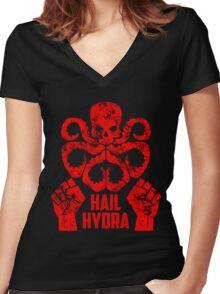 hail hydra v1 Women's Fitted V-Neck T-Shirt