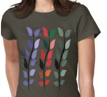 Coloured Leaves T Shirt Womens Fitted T-Shirt