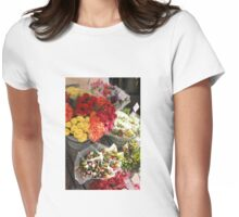 April's Kaleidoscope Flowers, Sweden Womens Fitted T-Shirt