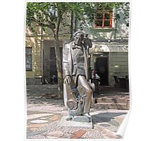 Statue, Hans Christian Andersen and Jiminy Cricket. Poster