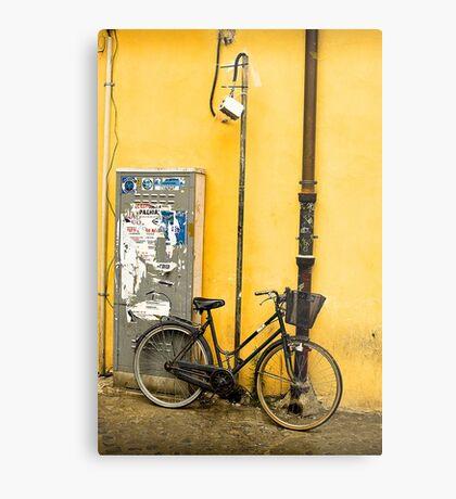 Bike In campo De Fiori Metal Print