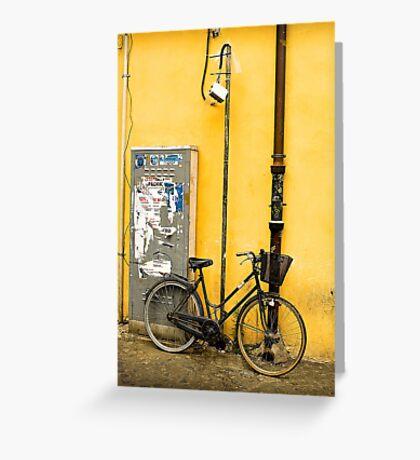 Bike In campo De Fiori Greeting Card