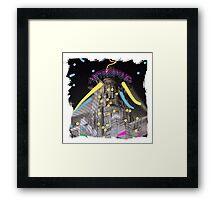 Neon Metropolis Framed Print