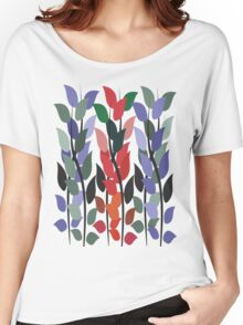Leaves on Stems T Shirt Women's Relaxed Fit T-Shirt