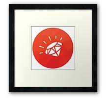 Ruby Gem Framed Print