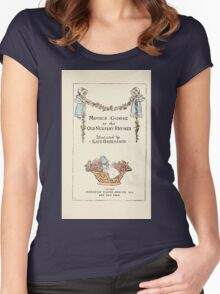 Mother Goose or the Old Nursery Rhymes by Kate Greenaway 1881 0007 Title Plate Women's Fitted Scoop T-Shirt