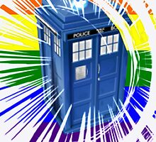 rainbow tardis by redtee