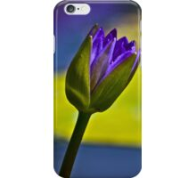 Purple, water lily iPhone Case/Skin