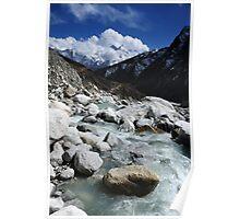 Water & Mountains - Nepal Poster