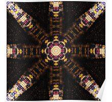 Indian Corn Kaleidoscope Art 3 Poster