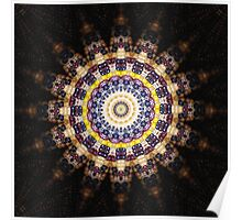Indian Corn Kaleidoscope Art 4 Poster