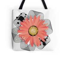 Ribbioned Flower Tote Bag
