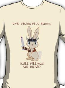 Evil Viking Plot Bunny T-Shirt