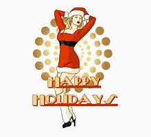 Happy Holidays Christmas Pinup Girl Unisex T-Shirt
