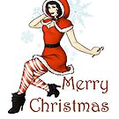 Merry Christmas Pinup Girl by CatAstrophe