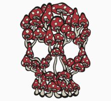 Skull made of Mushrooms T-Shirt