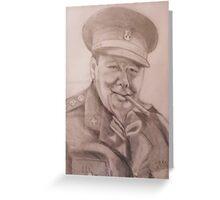 Sir Winston Churcill Greeting Card