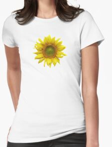 Sunny Sunflower Womens Fitted T-Shirt