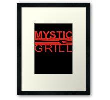 Mystic grill Framed Print