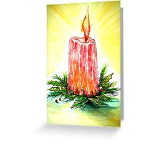Christmas Candlelight Greeting Card