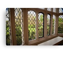 Garden Green Through the Tudor Window: Hall Place, Kent. UK. Canvas Print