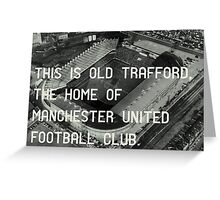Manchester United Soccer Club Greeting Card