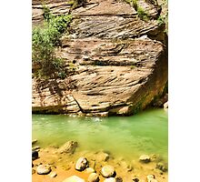 Quiet Pool on The Narrows   Photographic Print