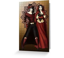 The Queen and Red Riding Hood Greeting Card