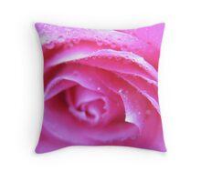 Neon Pink Rose Throw Pillow