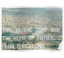 Futbol Club Barcelona Poster