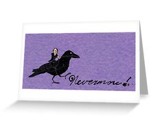 Edgar Allan Poe and Raven Greeting Card