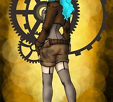 Steampunk Girl Pinup by CatAstrophe